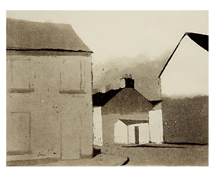 Derry 1973, akvatinta laveeraus, 21,5x17 cm uusi pieni