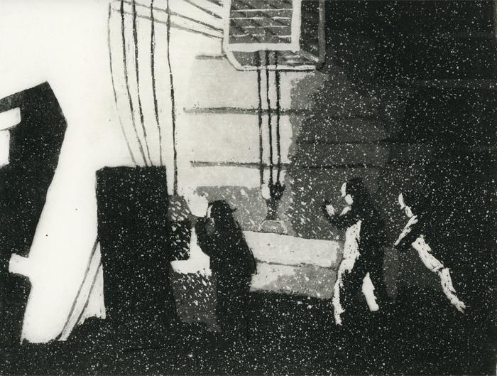 H Valimo 1973, sokeriakvatinta, laveeraus 19,5x25cm pieni copy