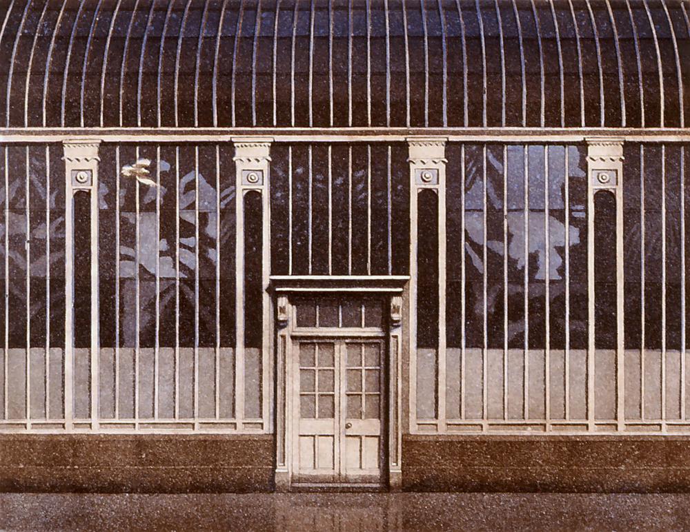 Heijastuksia II 1991,akvatita etsaus 34,5x45cm pieni