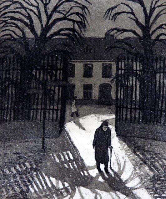 Ilta 1979, Akvatinta etsaus, 20 x 23,5 cm