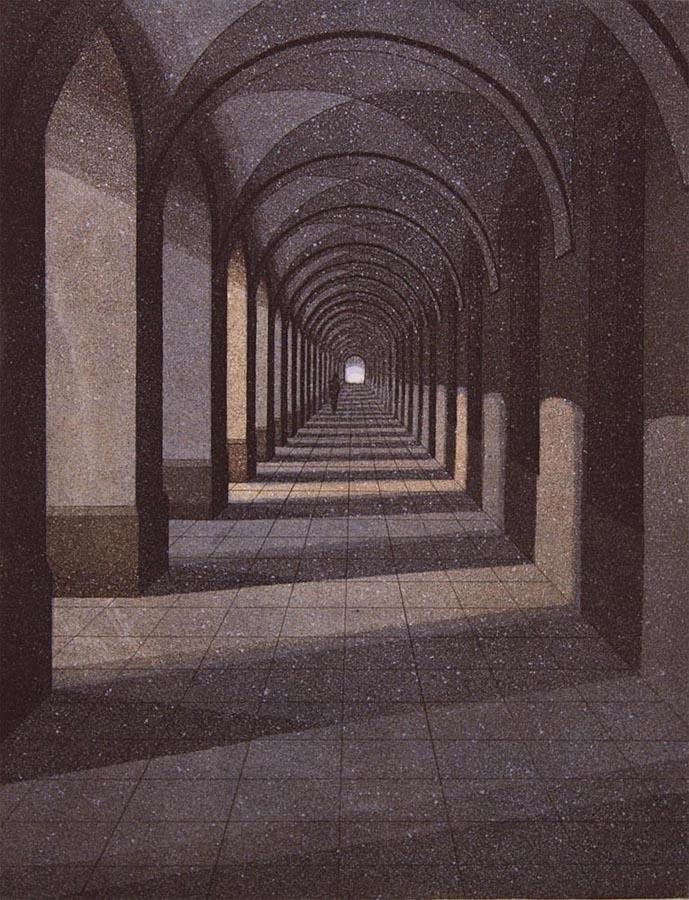 Käytävä I 1987, akvatinta etsaus, 34,5x26,5 pieni 2