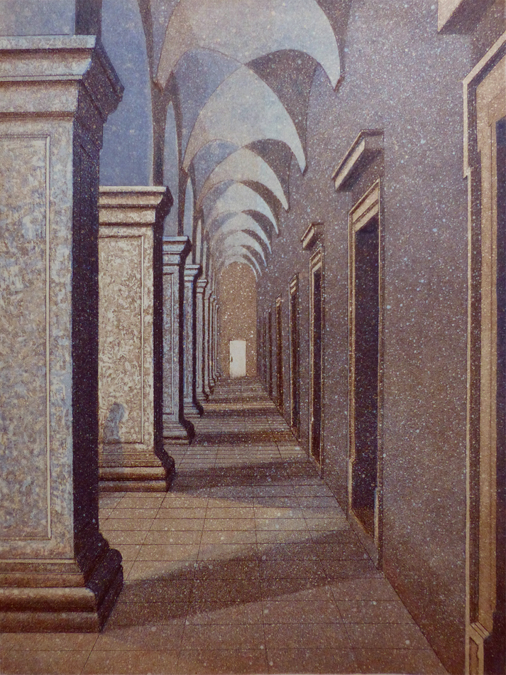 Käytävä I 1995, akvatinta etsaus, 37x28cm pieni copy