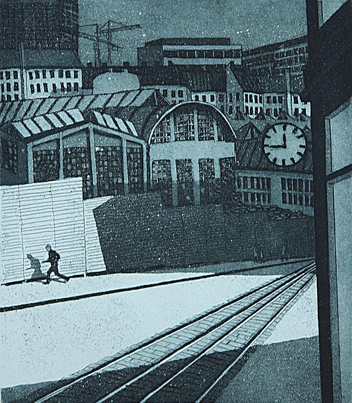 Katu 1981, Akvatinta etsaus, 27,5 x 31 cm uusi copy pieni