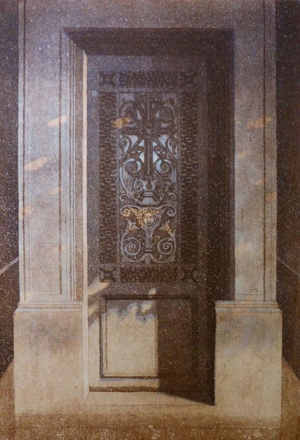 Kesäyön unelmia III 1993, akvatinta etsaus, 40x27cm pieni