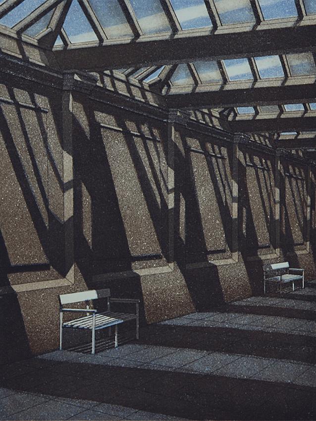 Laituri III 1986, akvatinta etsaus, 33,5x25cm pieni 2