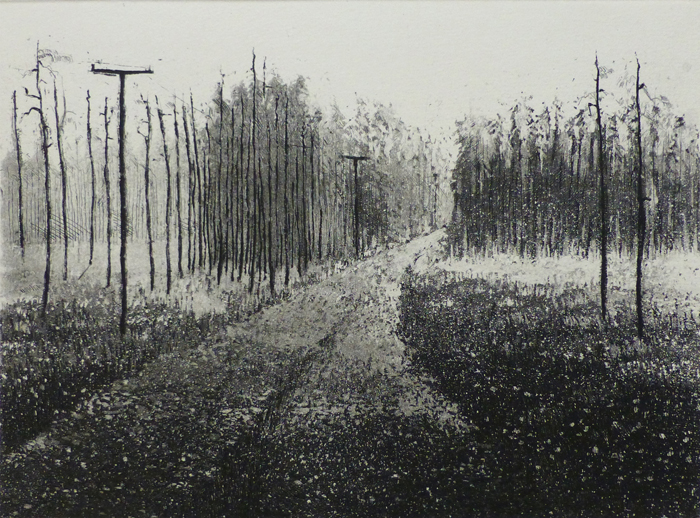Lu Korpitie 1973, Sokeriakvatinta etsaus, 18x23,5 pieni