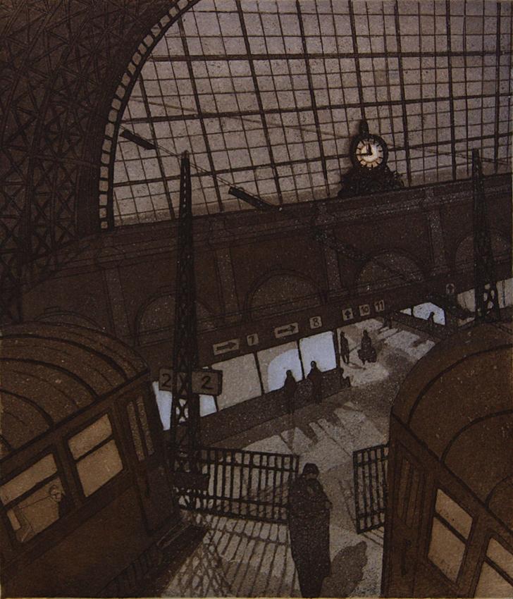 Matkalla III 1983, akvatinta etsaus, 30,5x26,5cm pieni 2