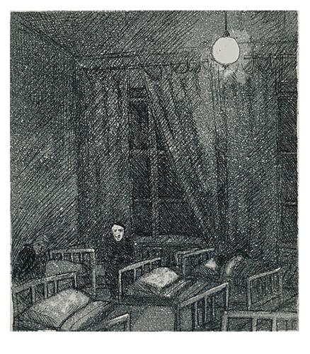 P Yömajassa 78, akvatinta etsaus, 12,5 x 14cm pieni copy