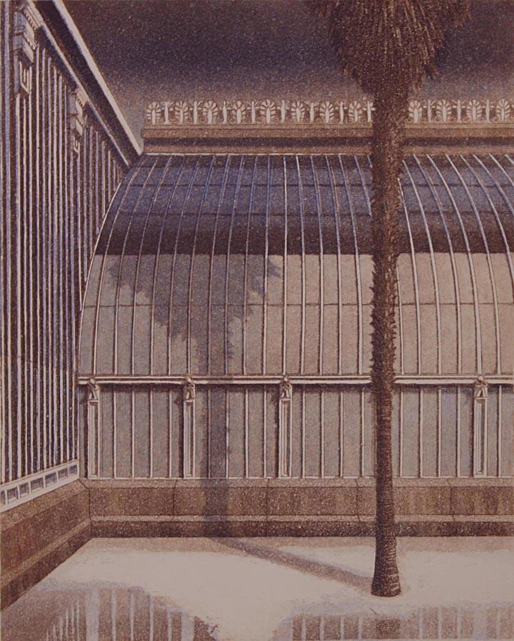 Palmu 1991, akvatinta etsaus, 35x28cm pieni
