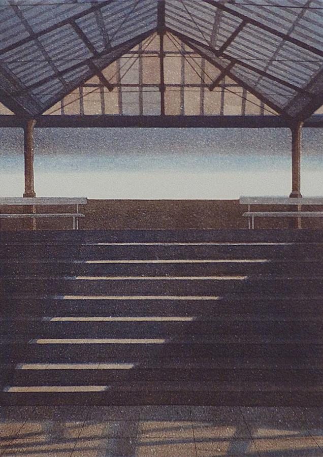 Portaat Paviljonki I 1987, akvatinta etsaus, 42x30 cm pieni 2 copy