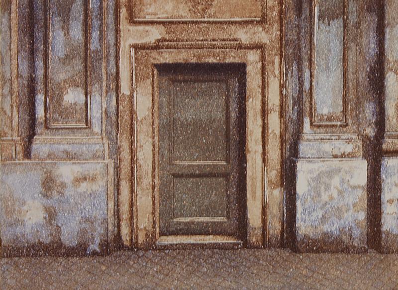 Rooma II 1993, akvatinta etsaus, 22x29cm pieni