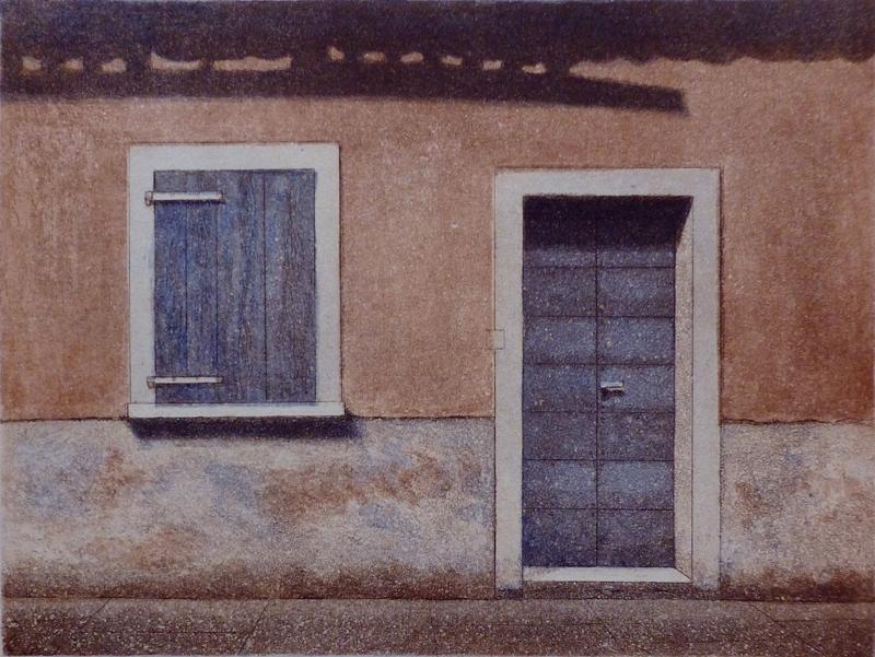 Siesta I 1993, akvatinta etsaus 21x27,5cm pieni