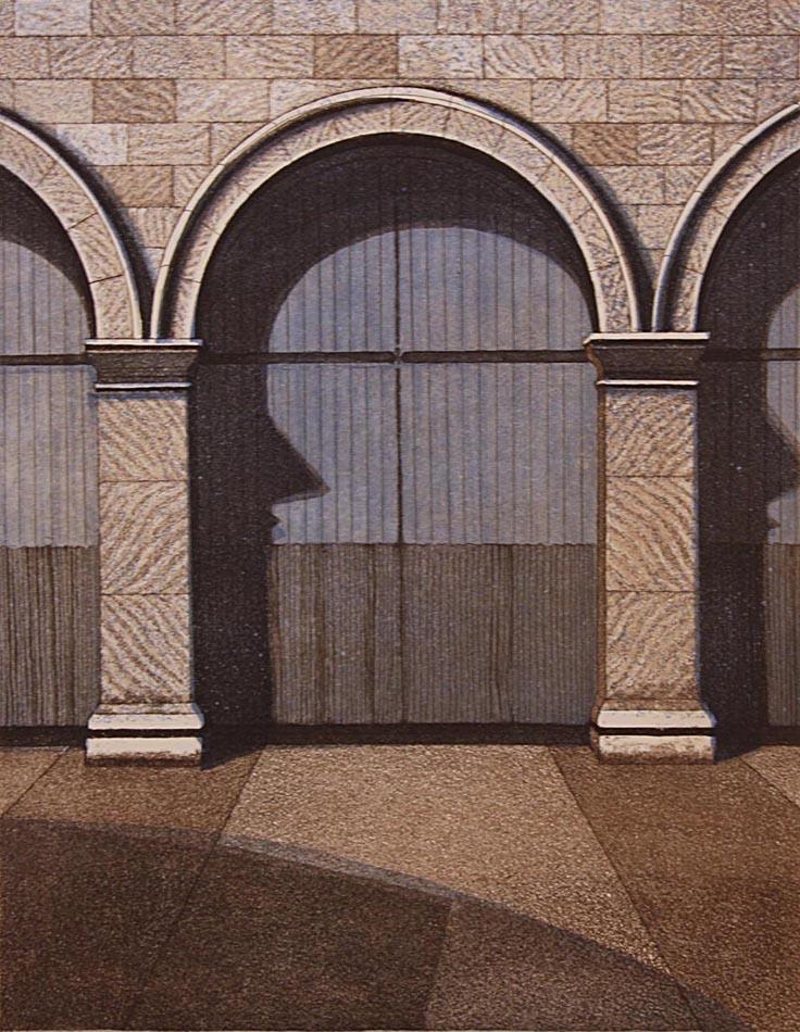 Storehouse II 1986, akvatinta etsaus, 39x30,5cm pieni2