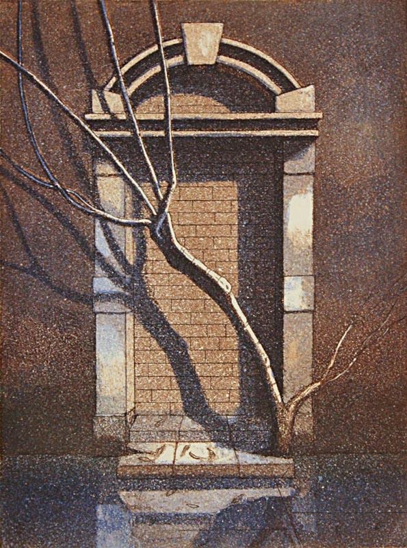 Talvi 1989, akvatinta etsaus, 26,5x20cm pieni copy