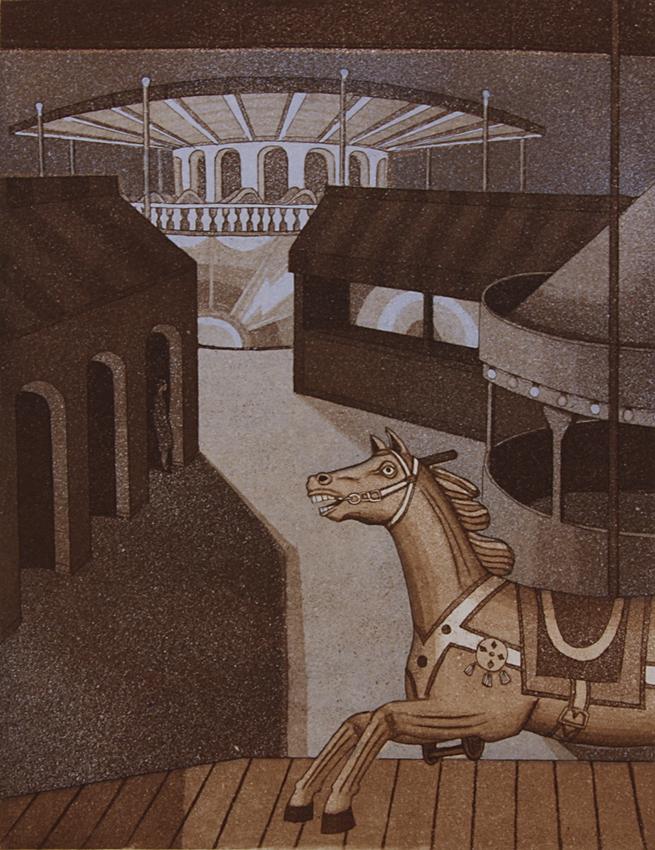 Tivoli I 1984, akvatinta etsaus, 34,5x27cm pieni 2