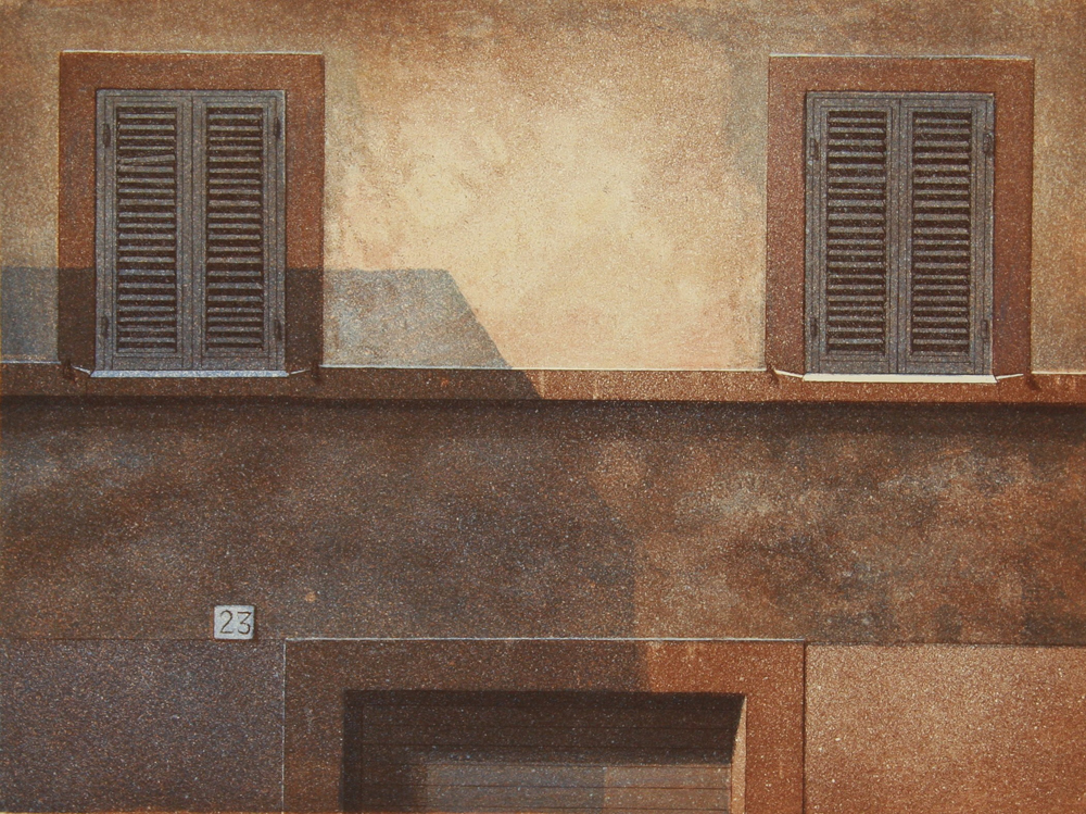 Vs Ikkunat I 1990, akvatinta etsaus, 28x37cm pieni